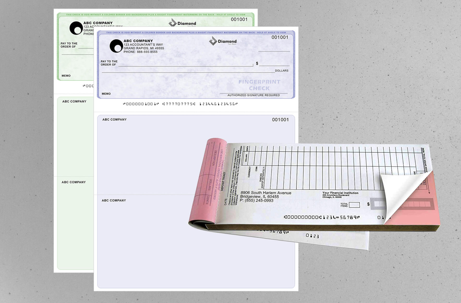 Checks & </br>Deposit Slips